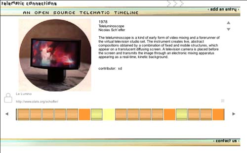 Telematics Timeline_screenshot_entry: N Schöffer 1978
