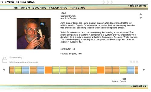 Telematics timeline_screenshot_entry: Captain Crunch 1968